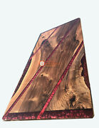 Wooden Resin Red River Cutsom Dining Corridor Table Top Handmade Collectible Art