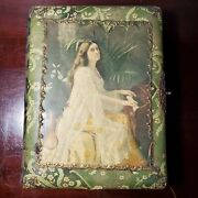 Victorian Celluloid Photo Album Full 28 Cabinet Cards And 16 Cdv Photos Velvet Pa