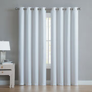 Vcny Polyester Single Panel Blackout Curtains White Metal Grommets Rust Proof