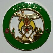 New Shriners Aaonms Green Cut Out Car Emblem