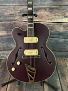 Dand039angelico Left Handed Deluxe 59 Hollow Body Electric Guitar- Matte Purple