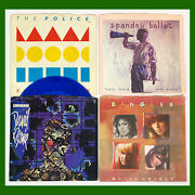 """Lot 32 1980's New Wave Synth Pop Vinyl Records 7"""" 45rpm Picture Sleeves Punk"""