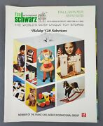 Fao Schwarz Toy Mail Order Catalog Fall Winter 1974 1975 5th Ave New York Nyc 1