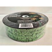 New Members Mark Wired Ribbon Tinsel Lime Green Net Type 1.5 By 50 Yards