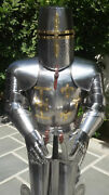 Medieval Knight Suit Of Templar Armor With Sword Combat Full Body Armour Gift