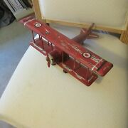 Red Wooden Airplane