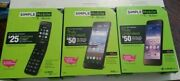 Simple Mobile 4g Lte Prepaid Smart Phone- Brand New Locked-you Choose-