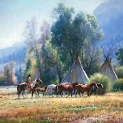 Martin Grelle Back From The River Giclee On Canvas Grande Edition