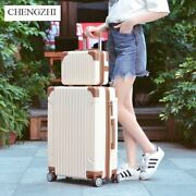 Carry On Luggage With Wheels Travel Trolley Suitcase Spinner Hard Shell Hand Bag