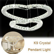 Stainless Steel Andcrystals Chandelier Light Modern Style Ceiling Pendant Lamp 50w