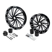 21 Front And 18'' Rear Wheel Rim W/ Hub Fit For Harley Road King Non Abs 08-21 20