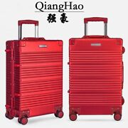 Carry On Luggage With Wheels Rolling Travel Trolley Suitcase Spinner Hard Shell