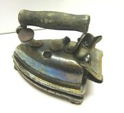 Vintage Retro Iron Hotpoint Ac Matic With Tray Primitive Sewing Decor Display
