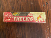 Vintage Faulks Duck Goose Call In Original Box And Instructions