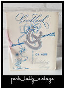 Vintage 30's Mia Cards Good Luck On Your Wedding Day Unused Greeting Card Eb1188