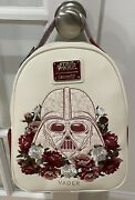 New With Tags Loungefly Star Wars Darth Vader Floral Mini Backpack