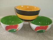 Vintage Kelloggs Cereal Bowls Corn Flakes And Crunchy Nut Collectables