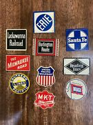 Vintage Railroad Signs Post Cereal Lot Of 10