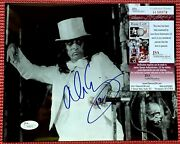 Jsa Signed Alice Cooper Autographed White Top Hat 10x 8 Marilyn Manson Kiss