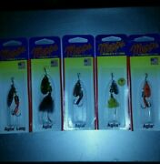 Mepps Aglia Spinner Lot Long Maribou Spinner Baits Lures Crappie Bass Musky Pike