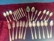 Vintage Silverware Silverplate Asst.lot 30 Pieces Serving Knives Forks Spoons
