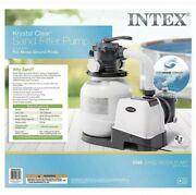 New Intex 2100 Gph Sand Filter Pump For Above Ground Pools With Automatic Timer