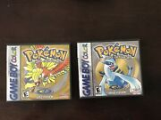 Pokemon Gold And Silver Lot Nintendo Gameboy Games Authentic With New Batteries