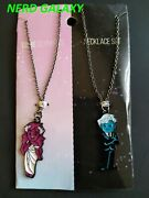 Lore Olympus Persephone And Hades Necklace Set New Officially Licensed