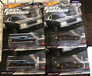 Hot Wheels Premium 68 Dodge Charger Fast And Furious Stars 4/5 F9 Lot Of 4 Htf