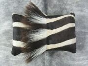 Zebra Neck Pillow 16x10 Inches Real Burchelland039s Zebra Leather Pillow Made In Usa