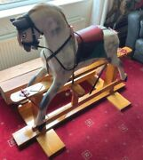 Vintage Rocking Horse Extra Safe Stand For Children Collinsons / Haddon Large