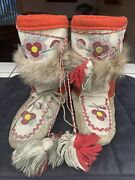Vintage Authentic Beaded Moccasins Native American Indian