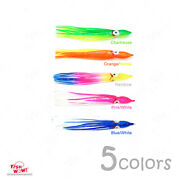 Fish Wow® 5-color 4.75 Fishing Squid Skirts Octopus Trolling Hoochies Lure Lot