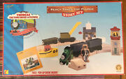 1997 Learning Curve Wooden Thomas Train Percy Takes The Plunge Story Set Sealed