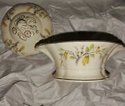 Edwin Knowles China Covered Vegetable Bowl W/lid--vintage Vgc--htf Pattern
