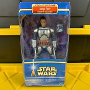 Jango Fett Character Collectible Star Wars Aotc 12 Action Figure 2002 New