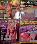 Lot Of 4 Wood Carving Illustrated Magazine Issue 18, 19, 20 And 21  2002