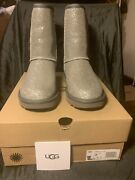 Uggs Womens Classic Short Foil Glam Color Grey Size 7 W/1112092