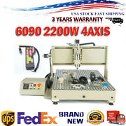 Usb 2.2kw 4 Axis 6090 Router 3d Engraver Mill Drill Carving Machine+handwheel