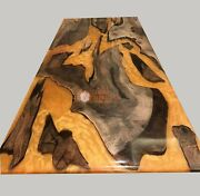 Wooden Handmade Epoxy Custom Dining Table Top Resin River Collectible Table Deco