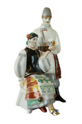 Vintage Porcelain Figurine The Night Before Christmas Statue First Grade Mark