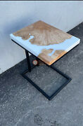 White Resin Acacia Wooden Handmade Collectible Corner Office Table For Office