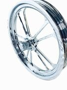 17 X 2.25 Front Drag Racing Chrome Anglia Wheels 2 Spindle Mount