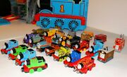 Thomas The Train And Friends Metal Diecast Magnetic Trains Lots Of Track Buildings