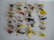 Vintage Freshwater Fly Fishing Lures Lot Of 33