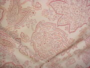 6-3/4y Scalamandre 00033566 Camargue Fh Coral French Floral Upholstery Fabric