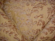 13y Scalamandre X0 12358397 Paasion Gold Spanish Floral Damask Upholstery Fabric