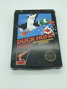 Duck Hunt Nes Cib Hang Tab Black Box W/ 5 Screw Cart And Manual-complete/tested