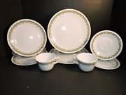 Vintage 1970and039s Corelle Spring Blossom Dinnerware 4 Pc Set For 2 8 Total