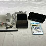 Nintendo Wii U 32gb Black Deluxe Console And Gamepad Wup-10102 Tested W Game